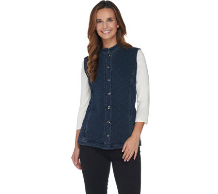 Quacker Factory DreamJeannes Quilted Barn Vest