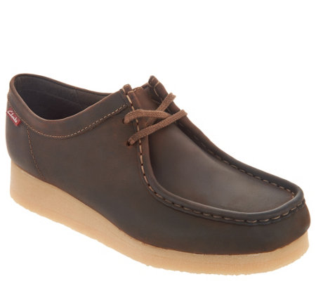 Clarks Leather or Suede Lace-up Shoes - Padmora