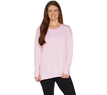 Cuddl Duds Ultra Soft Comfort Asymmetrical Hem Top
