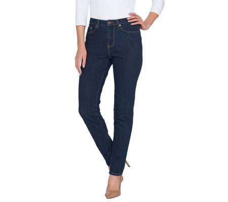 BROOKE SHIELDS Timeless Petite Full Length Slim Leg Jeans