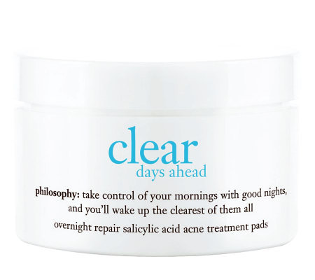 philosophy clear days ahead overnight clarifying pads, 60 ct