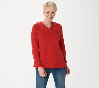 5ad98296a1d Martha Stewart Hooded Pullover Sweater - A351512