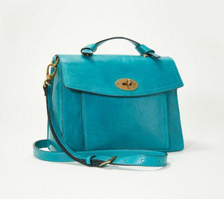 78433d7859 Tignanello Leather Convertible Satchel - Page 1 — QVC.com