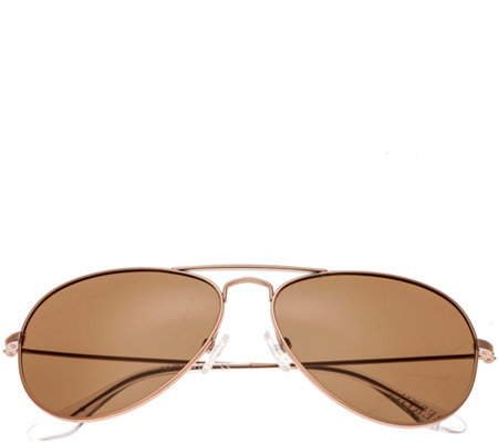 Bertha Brooke Rosetone Sunglasses w/ PolarizedLenses