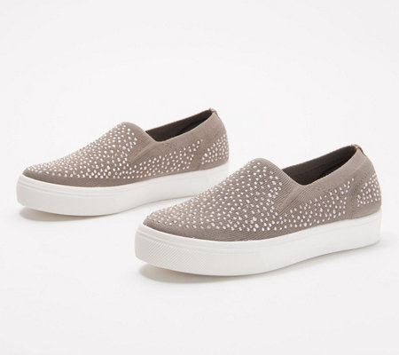 Skechers Embellished Slip-On Shoes- Poppy Studded Affair