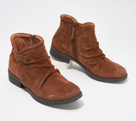 Comfortiva Suede Slouch Ankle Boots - Tarrant