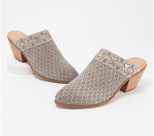 frye & co. Leather or Perforated Mule - Jacy
