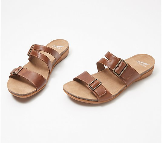 Dansko Leather Double Buckle Sandals - Rosie