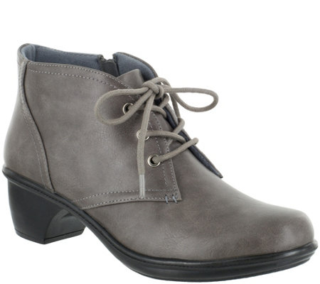 Easy Street Comfort Lace Up Booties - Debbie