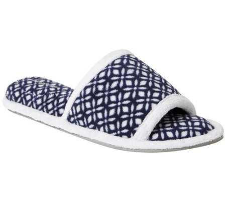 Dearfoams Women's Microfiber Terry Slide Slippers - Beatrice