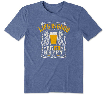 Life Is Good Men S Beer Happy Cool T Shirt