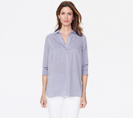 NYDJ Popover Tunic with Lace Details