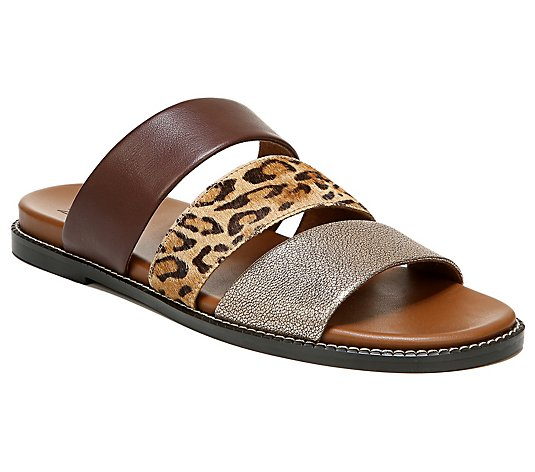 Naturalizer Triple-Strap Leather Slides - Kelli  e