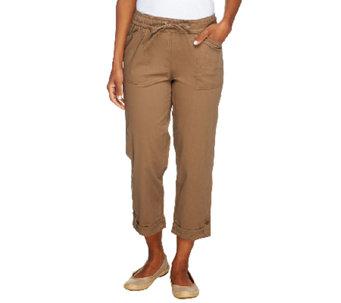 3fdf649641c03 Liz Claiborne New York Jackie Pull-On Crop Pants - A252713
