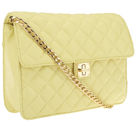 Isaac Mizrahi Live Medium Bridgehampton Quilted Lamb Leather Bag