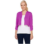 Liz Claiborne New York Essentials 3/4 Sleeve Shrug - A264113