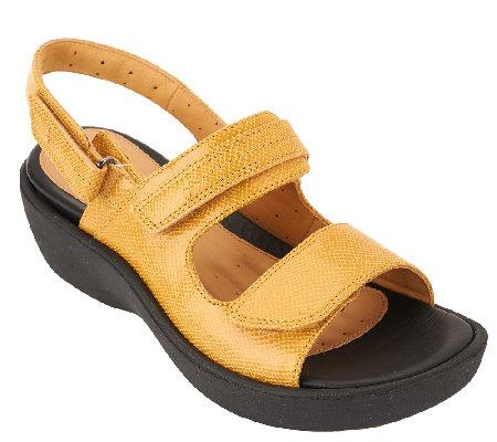 Clarks Unstructured Leather Sandals - Un. Harvest - Page 1 — QVC.com 70d9231fa3