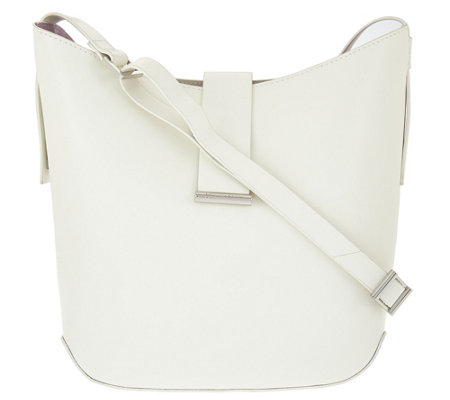 H by Halston Double Face Leather Crossbody Handbag
