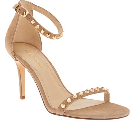 Marc Fisher Suede Ankle Strap Pumps w/ Stud Detail - Banner