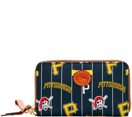 Dooney & Bourke MLB Nylon Pirates Zip Around Phone Wristlet