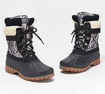 Cougar Waterproof Lace-up Boots w/Fleece Lining - Creek - A284913