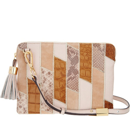 G.I.L.I. Leather Patchwork Crossbody