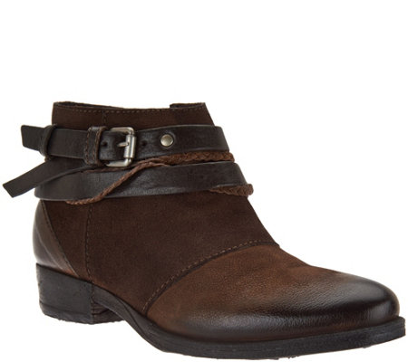 """As Is"" Miz Mooz Leather Ankle Boots - Danita"