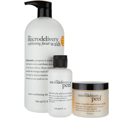 philosophy super-size exfoliating duo microdelivery peel & wash