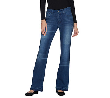 Women with Control My Wonder Denim Patchwork Boot Cut Jeans - A303513