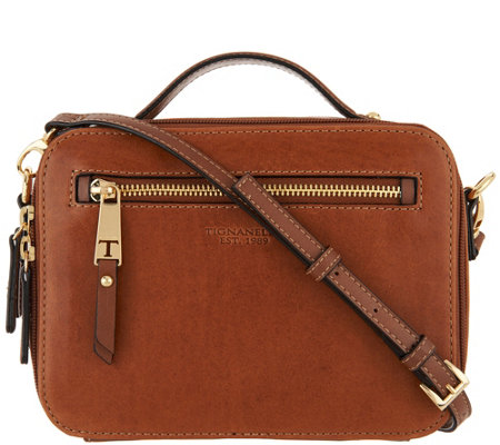Tignanello Vintage Leather Camera Crossbody Bag Atlantis