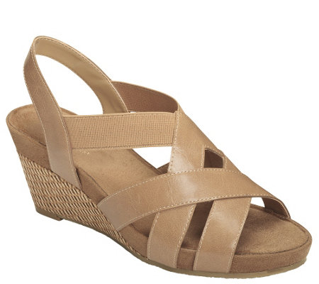 A2 by Aerosoles Wedge Sandals - Fire Light
