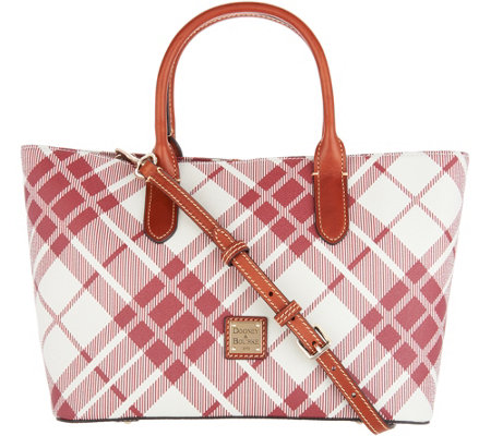 Dooney & Bourke Coated Cotton Plaid Brielle Tote