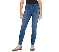 Laurie Felt Silky Denim Ankle Skinny Jeans with Zipper Fly - A343613