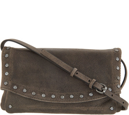 Frye Co Leather Stud Crossbody Clutch Victoria