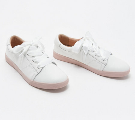 Vionic Leather Lace-up Sneakers - Chantelle