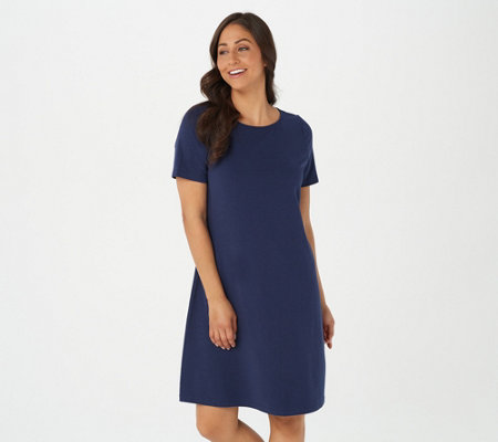 Denim & Co. Regular Essentials Jersey Bateau Neck Dress