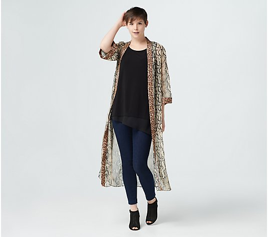 """As Is"" Lisa Rinna Collection Printed Duster"