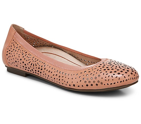 Vionic Leather Ballet Flats - Robyn