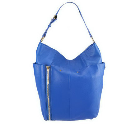 Kelsi Dagger Ayden Pebble Leather Hobo with Zipper Detail