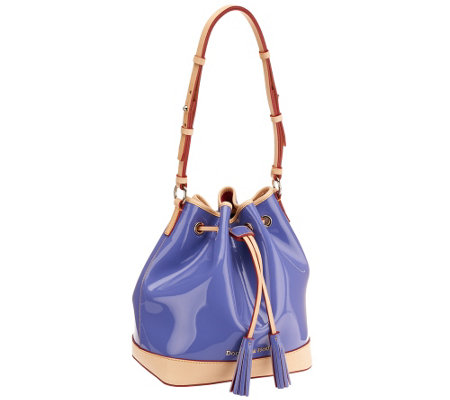 Dooney & Bourke Claremont Patent Drawstring Handbag