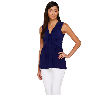 Women with Control Cap Sleeve Jersey Top with Smoothing Panel