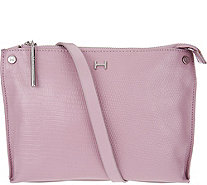 H by Halston Lizard Embossed Crossbody Handbag - A276514
