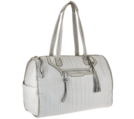 """As Is"" Aimee Kestenberg Nylon Quilted Weekender Bag - Jasame"