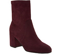 Marc Fisher Faux Suede or Crushed Velvet Ankle Boots - Ileesia - A295014