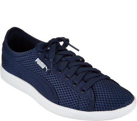 """As Is"" PUMA Mesh Lace-up Sneakers- Vikky Mesh"