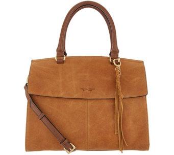 Tignanello Italia Leather Convertible Satchel Handbag Carson A308714