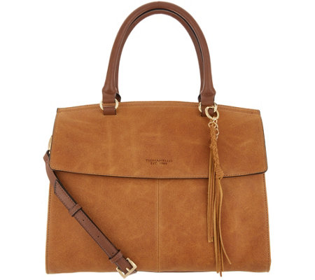 Tignanello Italia Leather Convertible Satchel Handbag - Carson