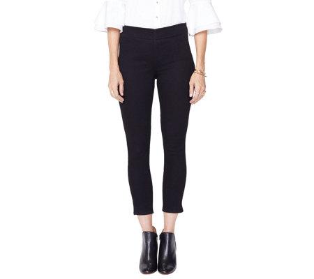 90a3dd1ad5b NYDJ Alina Pull-on Ankle Jeans - Black - Page 1 — QVC.com