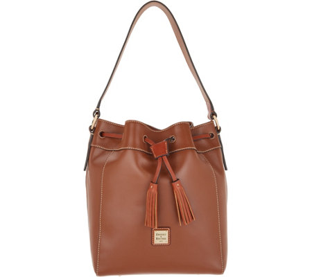 8e0ec273c0a6 Dooney   Bourke Smooth Leather Drawstring Bucket - Keeghan - Page 1 ...