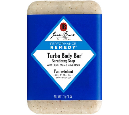 Jack Black Turbo Body Bar Scrubbing Soap, 6 oz
